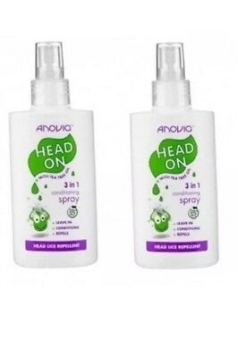 2 x Head Lice/Nits - Easy 3 in1 Repellent Spray.