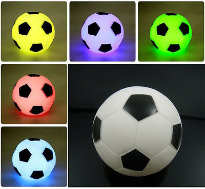 Colorful LED Night Light Toy Xmas Party Decor Mini Football Soccer Lamp Toys