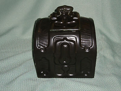 McCoy Pirate's Chest Cookie Jar, #252 black minus silver, small chip on side