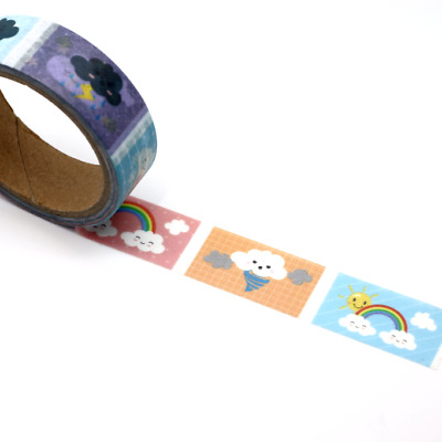 Washi Tape - Serrated - Weather Tracking  Stickers  15mm x 5m Cute