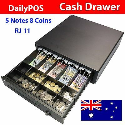 DailyPOS 5 Notes 8 Coins Electronic RJ11 Cash Drawer Box for POS System Printer