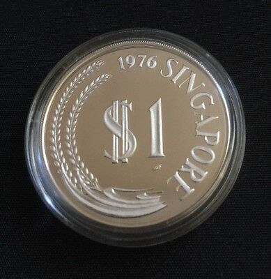 Silver Proof - Singapore - 1976 - (only 10,000 proofs struck) w/ COA