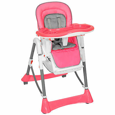 Baby seat with tray - adjustable - easy handling and cleaning - pink color
