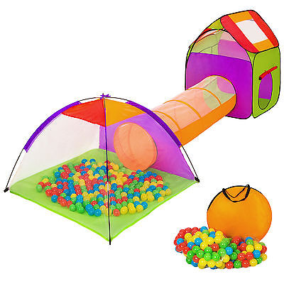 Hut and tent with tunnel and pool of 200 balls included - playroom