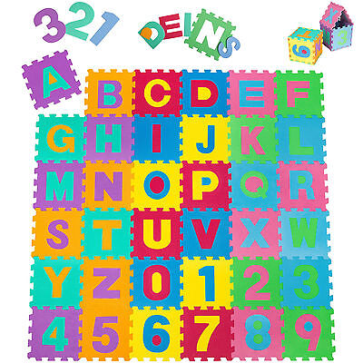Set Rubber alphabet pieces, ideal play area, ground fall and shock