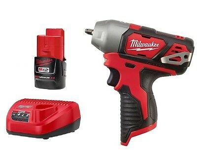 "Brand New Milwaukee 2461-20 M12 12V Li-Ion Cordless 1/4"" Impact Wrench + Battery"