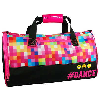 NEW Ballet Dance Bag Ballerina Girls Overnight Coloured Pixel #DANCE Black