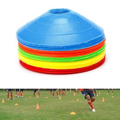 NEW Cones Marker Discs Soccer Football Training Sports Entertainment 20cm 1-20PC