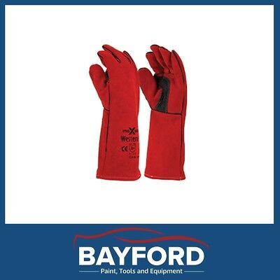 Welders Gloves Western Red Extended Gauntlet Premium Welders Glove Gwr162
