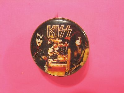 Kiss Vintage Cloisone Pin Button Badge Uk Made