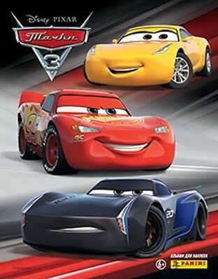 Panini CARS 3 Movie Sticker Collection Album + 5 Packs of Stickers - NEW