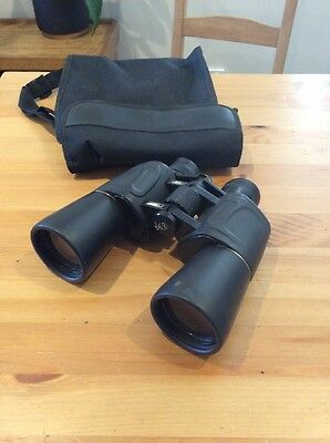 Ferber Deluxe Binoculars; Japan; 10x50; Wide Angle 7'; With Pouch