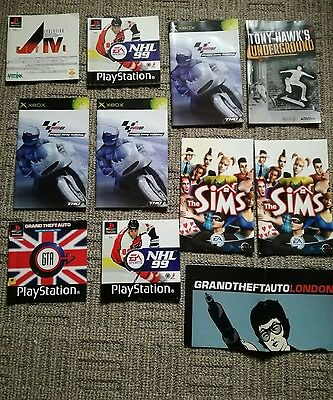 LOTTO MANUALI - PlayStation Sony - NHL, SIMS, GTA, TONY HAWK'S