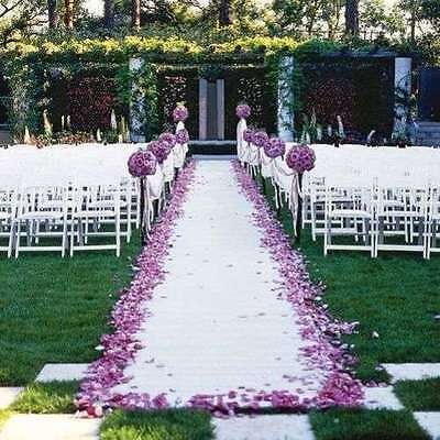 Wedding Aisle Runner Marriage Ceremony White Bridal Carpet Indoor Outdoor 100ft