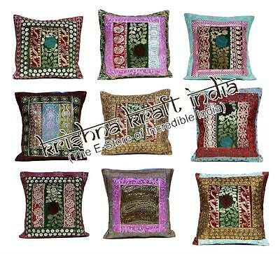 25 Traditional Embroidered Sequin USA Throw Pillow Cushion Covers Wholesale Lot
