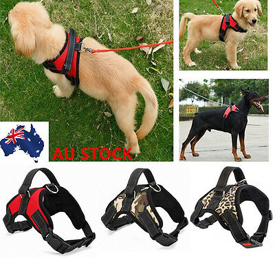 Portable Dog Cat Adjustable Soft Leash Harness Stop Pulling Training Chest Strap