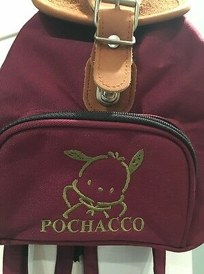 Vintage Sanrio Pochacco Maroon Small Backpack Bag