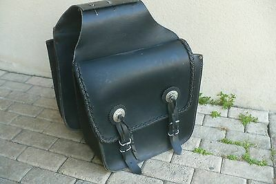 Sacoches cuir velo moto mobylette vespa Cavalieres Chopper Western leather case