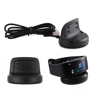 Galaxy Gear Fit 2 Smart Watch Replacement Charger Cradle Charging Dock Black