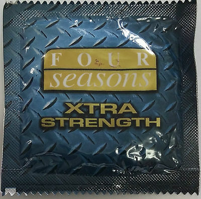 FOUR 4 SEASONS EXTRA XTRA STRENGTH Condoms strong thick Ansell Glyde Durex 6 12