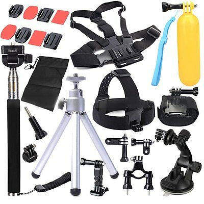 Head Chest Mount Floating Monopod Pole Accessories For Go Pro Hero 2 3 4 CameEK