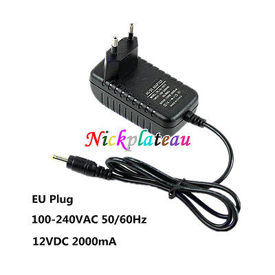 EU Plug AC 110V 220V To DC 12V 2A 5.5x2.1mm Power Supply Adapter Charger N