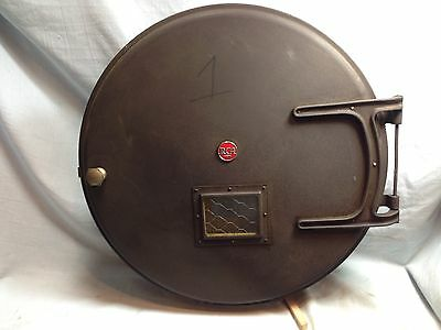 RCA 35mm Movie Film Projector Reel Canister Meat Ball Logo 1930 Vintage Art Deco