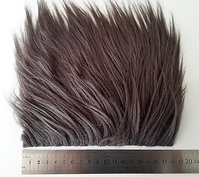 Dark Gunmetal Grey Extra Long Pile Craft Fur, Fly Tying Material
