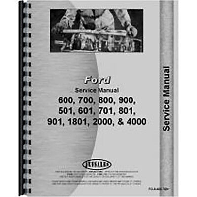 New Ford 2000 Tractor Service Manual (Gas and Diesel Only)