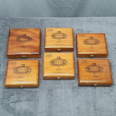 LOT of 6 Partagas Empty Wooden Cigar Boxes Perfect For Guitar Box Crafts Project