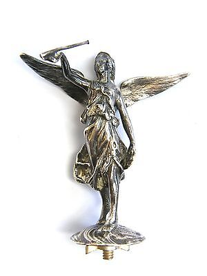 Antique-Walker & Halll-Solid Silver Large Angel Figure Finial-Sheffield-c1890