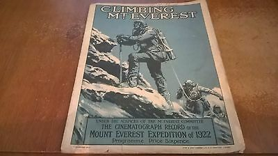 Climbing Mount everest official Cinematograph Record 1922