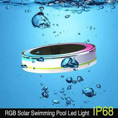Hot Solar RGB Underwater Lamp LED Swimming Pool Floating Light Fountain UK