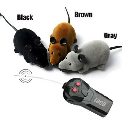Remote Control RC Rat Mouse Wireless For Cat Dog Pet Funny Toy Novelty Gift FS