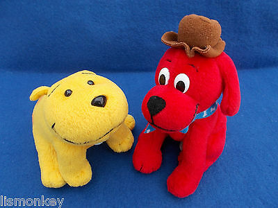 Clifford the Dog and Tbone Pair of Plush Soft Cuddly Toy Teddy