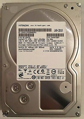 "2TB HDD SATA 3.5"" RPM 7.2K HITACHI 0F10452 Internal Hard Drive"
