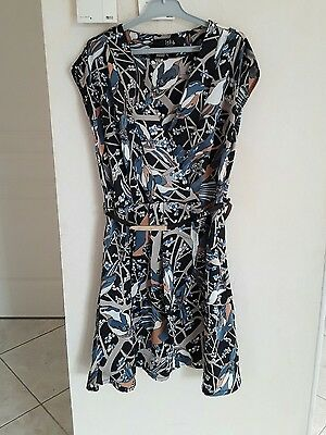 Robe Imprimee Iska London Taille 38 - Uk 10