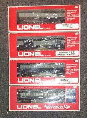 LIONEL B&O O Scale Pullman Passenger Cars 4-Car Set Boxed Excellent