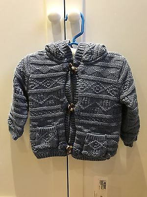 Marks & Spencer Boys Thick Lined Hooded Cardigan 6-9 Months BNWT