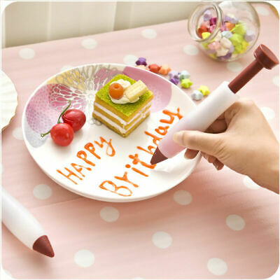 Silicone Food Writing Pen Cake Mold Cream Cup Chocolate Icing Decorating Syringe