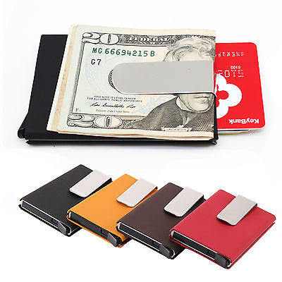 Business Credit Card RFID Protector Holder Case Box Men Women Purse Wallet UK