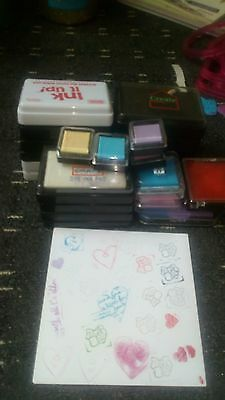26used and new ink pads