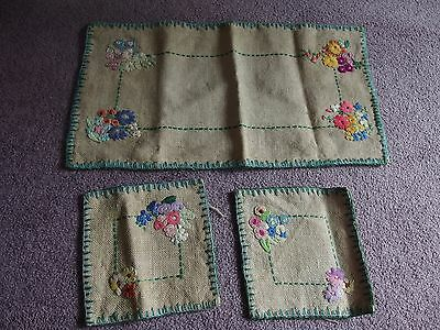 vintage hand embroidery cover 1930s