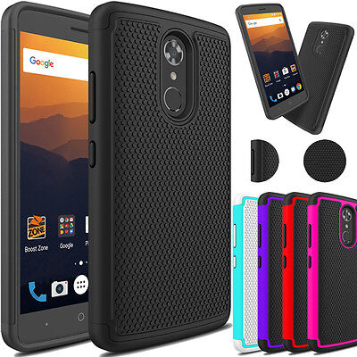 Shockproof Hybrid Armor Rubber Skin Hard Phone Case Cover For ZTE Max XL/N9560