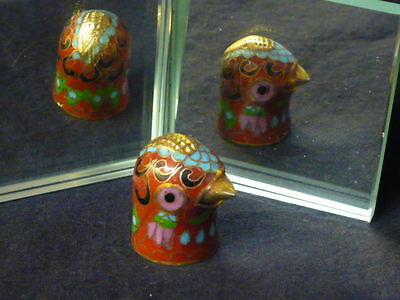 Cloisonné Bird Head Thimble
