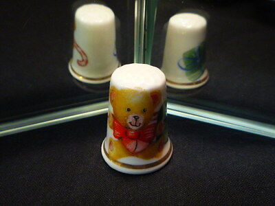 Teddy Bear China Thimble