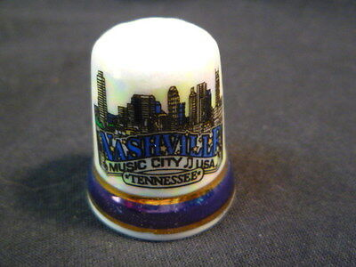 Nashville Tennessee USA Pearlised China Thimble