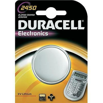 2 x Duracell 2450 Battery Lithium Battery 3V Button Coin Cell CR2450 DL2450