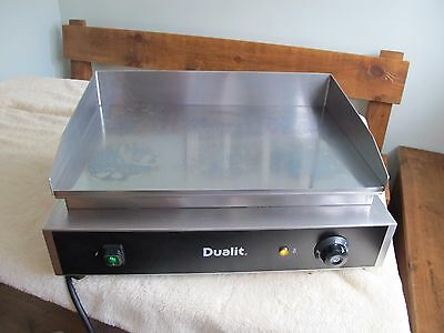Dualit  electric flat plate stainless steel grill griddle catering