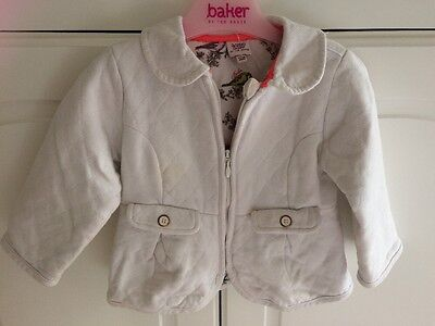 Baby Ted Baker Girls 12-18 Months White Quilted Jacket